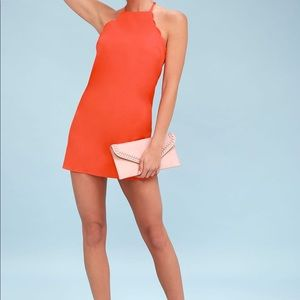Coral Red Dress Size Medium